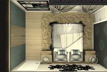 Suíte Homem / Suíte Homem, trabalhada com moveis planejados Sandrin e portas de vidro da Alumistar.