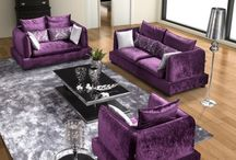 lounge purple couches