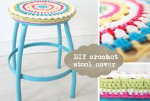crochet medallion stool covers / by Karen Fleming