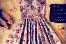 vestidos flores