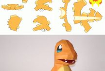 Papercraft / Fun printable paper craft for the kids (mostly Pokemon)