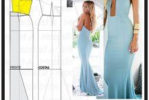 sukienka z wykrojem