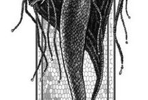 """Mermaids and Mystics / """"I must be a mermaid.. I have no fear of depth and a great fear of shallow living..."""" Anias Nin"""
