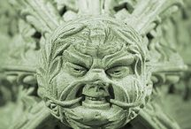 the green man /  examples of this  fascinating architectural  anomaly ,their history and their geographical distribution