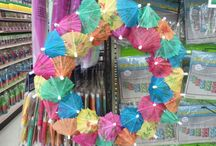 Getting Crafty / Creative crafts with products at Alin Party Supply