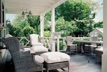 Outside Rooms / The client would like an outdoor living space protected from the elements, some where to relax all year round. These images provide plenty of food for thought showing a variety of materials, textures and furnishings.