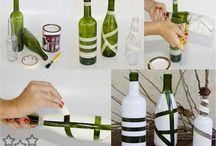 floreros de botellas