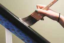 Banisters / Painting banisters