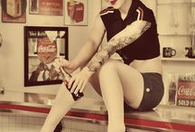 Modeling-Retro Fashion / Various poses in rockabilly and retro fashion style and environment