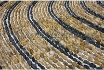 river rock rug