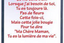 poème fête des mère ❤
