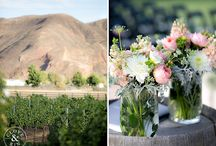 Pink, White and Green Wedding