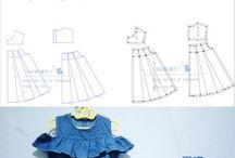 pola dress baju anak