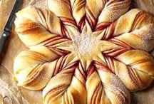 Christmas bread baking
