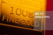 Getty Images and Edward Olive precious metals gold silver platinum stock rf rm photos images.