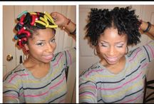 Styling Natural Hair / by knitting princess