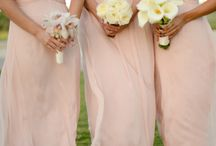 Bridesmaids dress and flowers