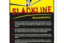 Slackline Schild
