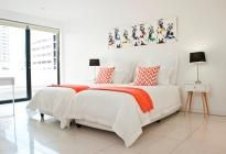The Colosseum Penthouse / This stunning 2 bedroom self-catering penthouse is situated in the viby centre of Cape Town off St Georges pedestrian mall.  This large 158m2 penthouse apartment offers stylish living with simplicity and luxury. Other facilities on offer are a huge roof top terrace with views over the City and two secure parking bays.  Smoking only on the deck outside please