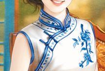 중국화가여인들그림