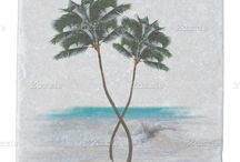 Beach House Decor / Tropical, beach-themed decor for a beach house, seaside condo, or yacht.