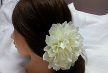 Wedding flower hair cream ivory or white Vintage. Flower hair, wedding hair accessories,,