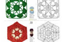 cuadrados a crochet