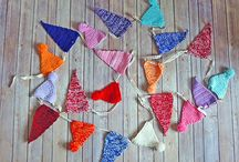 How To Make Knitted & Crocheted Bunting / A different take on decorative bunting - follow the link below and make your own knitted & crocheted bunting!   https://www.candh.co.uk/file.aspx?id=2478