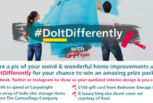 #DoItDifferently / WIN a selection of stylish home accessories, plus £500 to spend at Carpetright! Just show us how you do bedroom interior design differently by sharing photos using ‪#‎DoItDifferently‬ for your chance to win!