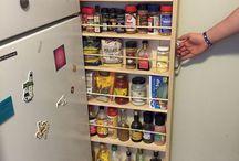 Места для хранения в кухне