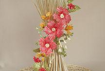 kvety z papierovych trubičiek
