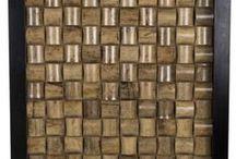 Houten Muurdecoratie / Behalve canvasschilderijen en metalen wandobjecten zijn er ook muurdecoraties van hout.