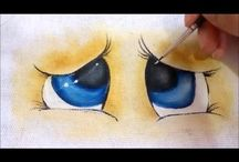 olhos pintura