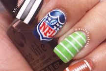 Super Bowl Nail Design / In anticipation of the upcoming Super Bowl, try out these fun nail designs. Go full out for your team! http://cleveland.paulmitchell.edu/
