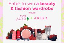 AKIRA x 100% Pure $1000 Giveaway / We've partnered with 100% Pure to giveaway a beauty & fashion wardrobe to 1 lucky winner! Enter to Win @ shopakira.com/100-percent-pure-akira-giveaway  What are  you waiting for? Get glowing!  / by ShopAKIRA.com