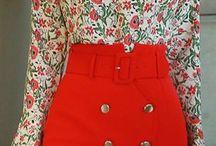 conjunto de saia e bluza