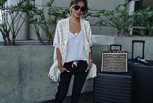 Fashion | Airport Style / A collection of airport outfits for different seasons and inspiration to travel in style.