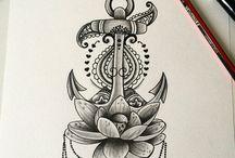 Татуировки с якорем