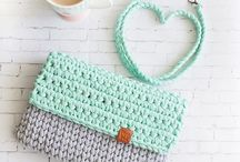 Crotchet clutch bags