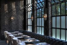 Elegant industrial restaurant