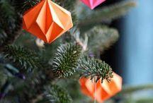 Origami vanocni ozdoby