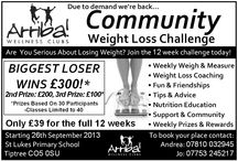 Community Weightloss Challenges / Essex community Weightloss challenges 12 weeks just £39 Full support, weekly weigh ins, fun, community, diet sheets, weekly handouts and lots more