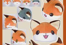 Kawaii fox hat
