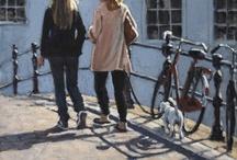 femmes avec chien