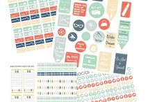 Planner Stickers / Erin Condren, Happy Planner, A5, Filofax stickers for organizing your schedule, managing your diary and keeping track of your tasks