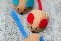 ποντίκια απο καρύδια