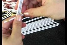 video pletení z papíru a jiných materiálů