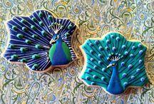 Sablés décorés Paon