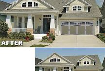 """Garage Makeovers / Improving your curb appeal can be as easy as fixing up your garage door. Here are a few samples and """"before & after's"""" to inspire you."""