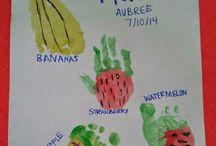 Infant / toddler food shape art